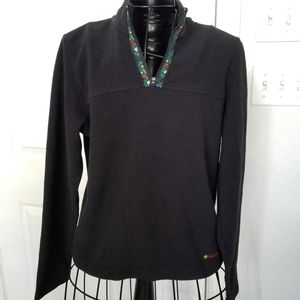 Billabong black fleece sweater sz. Juniors large